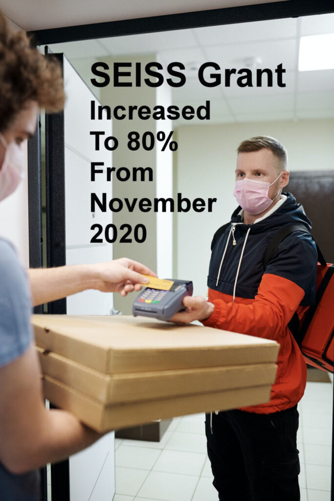 SEISS Grant increased to 80 from Nov 2020