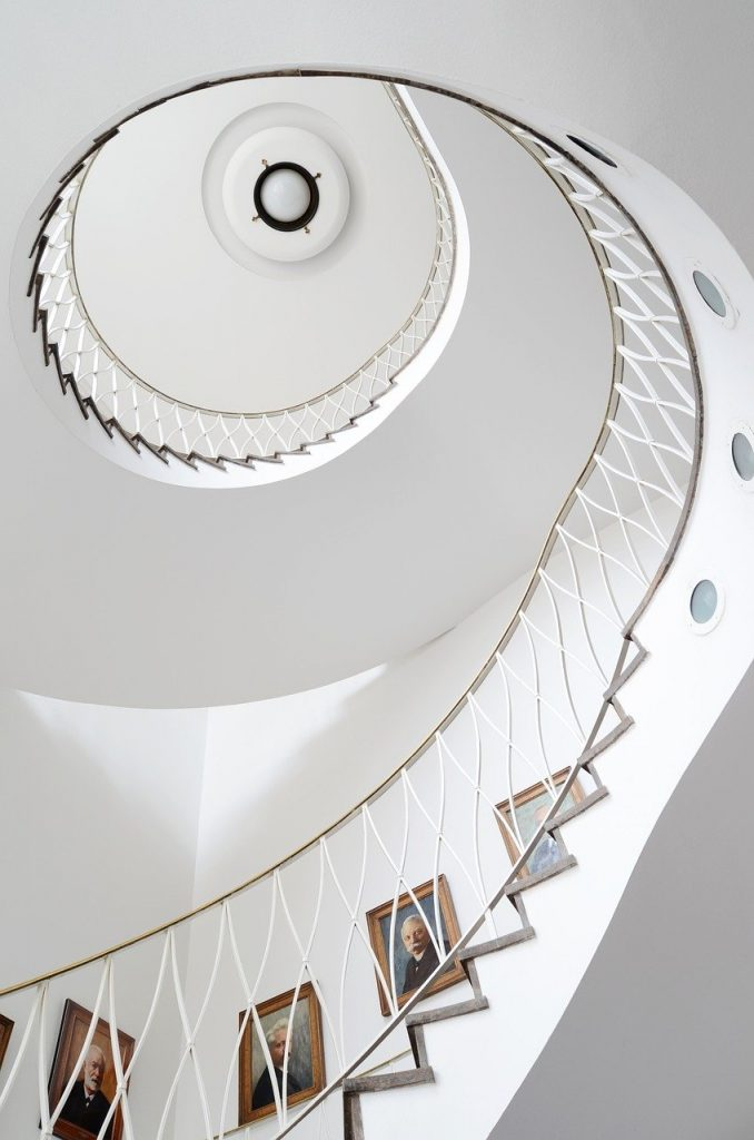 spiral, architecture, stairs